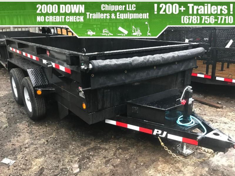 2021 PJ 6x12 10K 2ft Barn Door Dump Trailer