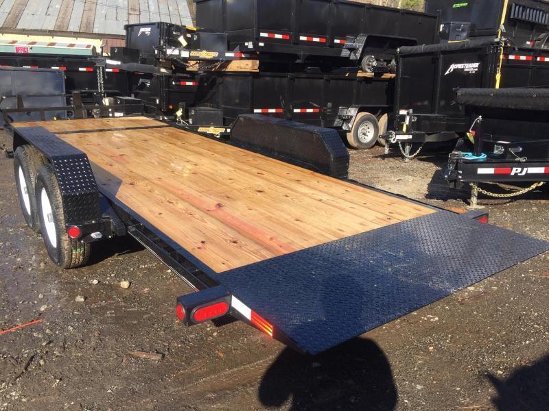 2022 PJ Trailers 7x20 14k 7 ton Tilt Deck Equipment / Car Hauler Gravity Partial Deck Removable Fenders