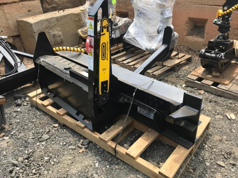 2021 Halverson Skid Steer Mounted Firewood Processor with 4 way Adjustable, HWP-120-6A Log Splitters Skid Steer Attachment