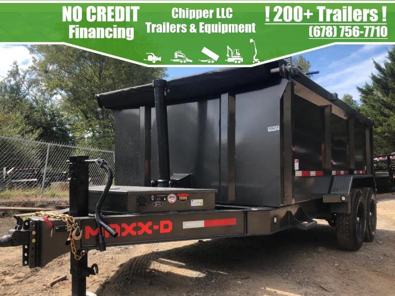 2021 MaxxD 7x14 4ft 16k 8 Ton Ramps Low Pro Telescopic Dump Trailer