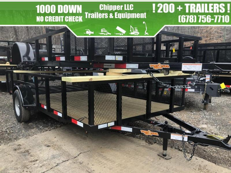 2021 Down To Earth 6.5x12 3.5K 2ft Mesh Sides Utility Trailer