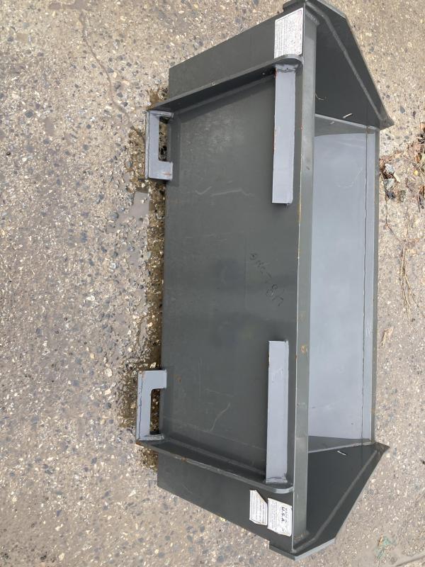 "2021 48"" Long Bottom Bucket CIDDLPB48 Mini Skid Steer Universal Attachment"