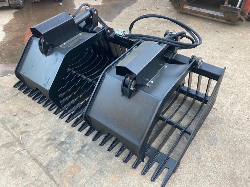"2021 Iron Rhino 72"" Rock Grapple 36"" long floor IR72RKG Skid Steer Attachment"