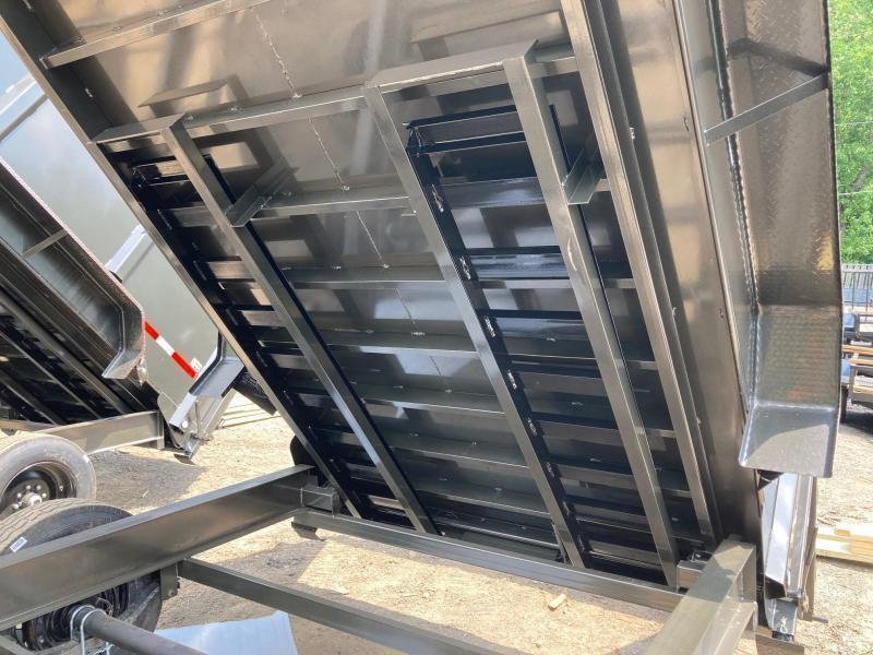 2021 MaxxD 7x14 3ft 16k 8 Ton Ramps Low Pro Telescopic Dump Trailer