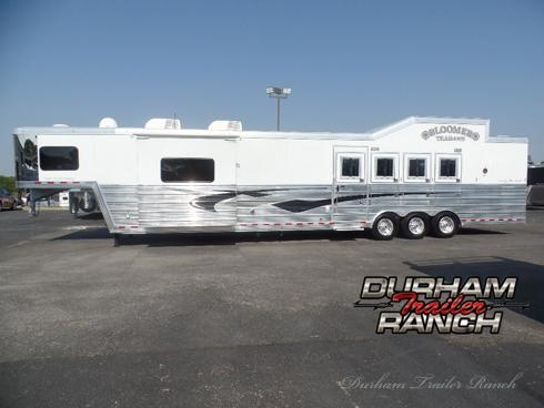 "2014 Bloomer 4H w/ 18' SW with 6'6"" Slide Out & Bunk Beds Horse Trailer"