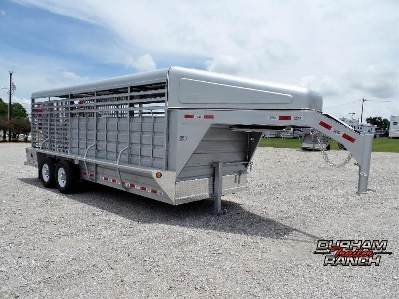 2020 GR 20' Stock Trailer w/ Metal Roof