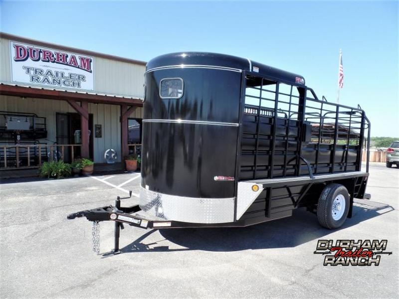 2020 GR Trailers 14' BP Half-top Livestock Trailer