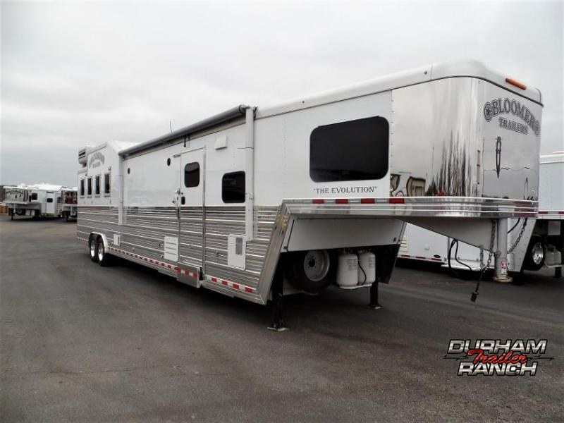 "2015 Bloomer 4H with 17'6"" SW w/ Bunk Beds and 6' Hyd. Slide Out Horse Trailer"