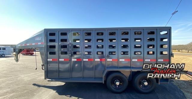 2021 Maxxim Industries 16' GN Stock Trailer Livestock Trailer