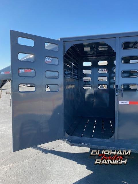 2021 Maxxim Industries 16' GN Stock Trailer Livestock Trailer