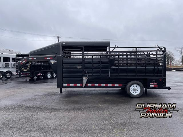 2021 GR Trailers 16' Half Top GN Livestock Trailer
