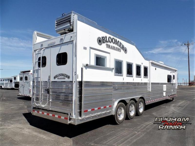 "2020 Bloomer 5H Outlaw Conversion 17'6""sw and 6' Hyd. Slide Horse Trailer"