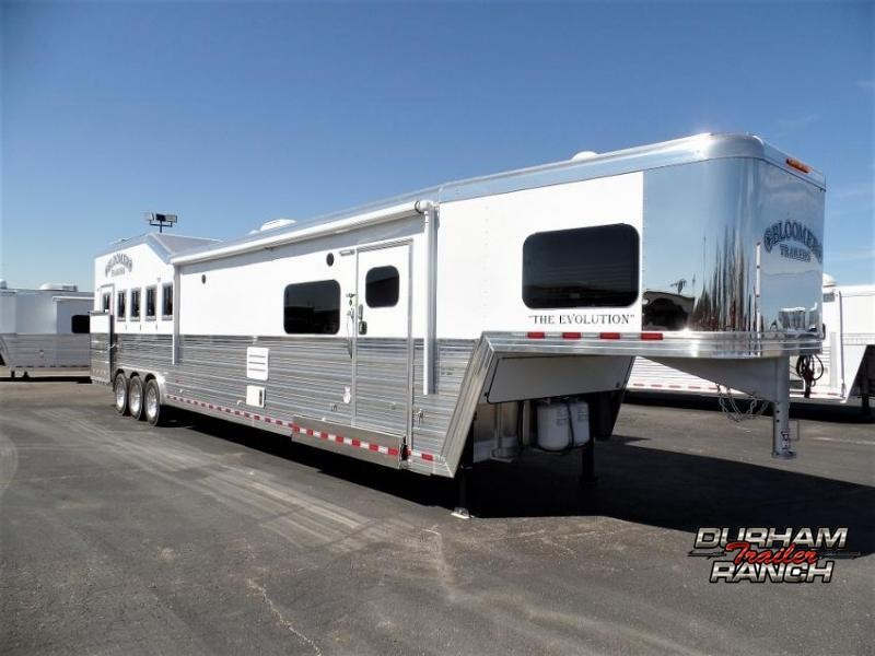 """2020 Bloomer 5H Outlaw Conversion 17'6""""sw and 6' Hyd. Slide Horse Trailer"""
