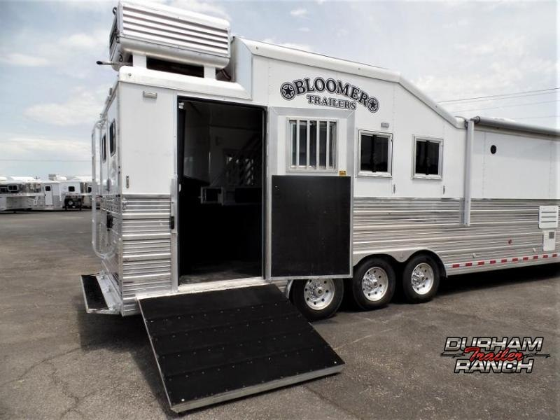 "2018 Bloomer 4 Horse PC Load Outlaw Conversion 16'9"" SW and 6' Hyd. Slide Out Horse Trailer"