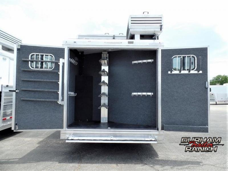 """STOLEN! 2018 Bloomer 4 Horse PC Load w/ 16'9"""" SW and 6' Hyd. Slide Out Horse Trailer"""