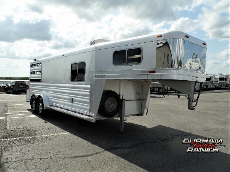 2014 Platinum Coach 2H w/ 5' Dressing Room & 5' Mid-Tack Horse Trailer