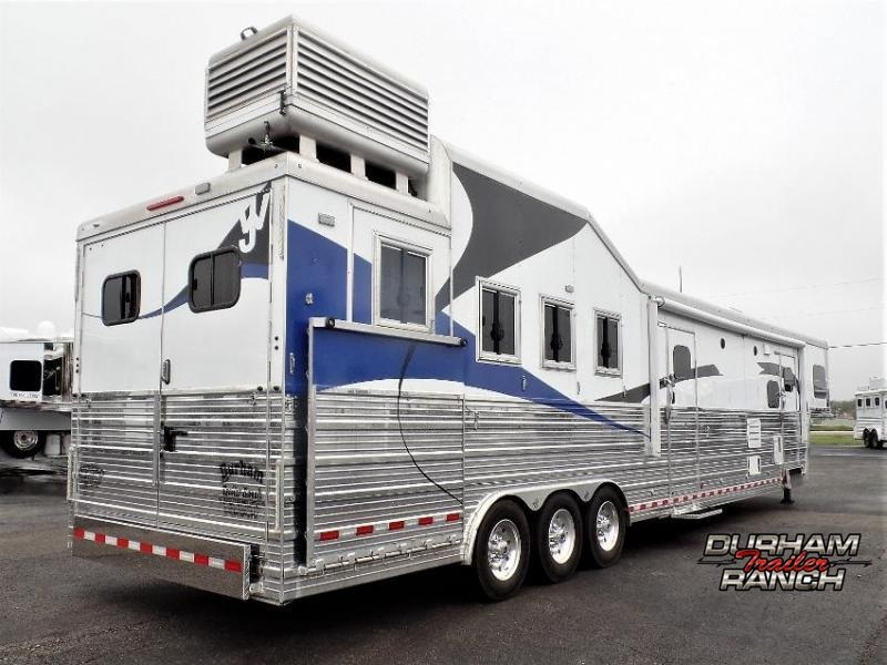 "2016 Bloomer 4H w/ 19'6"" Short Wall LQ and 6' Hyd. Slide Horse Trailer"