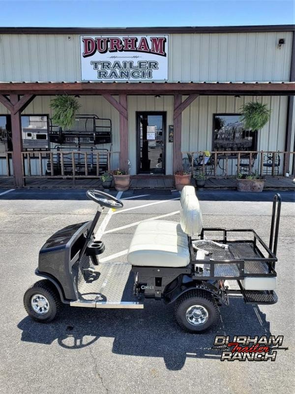 2020 Black SX-3 Cricket Mini Golf Cart w/ White Seats