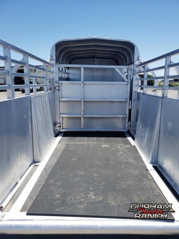 2001 Medora 18' Half Top Livestock Trailer