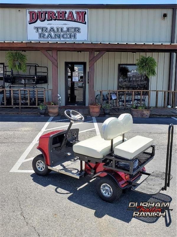 2020 Red SX-3 Cricket Mini Golf Cart w/ White Seats