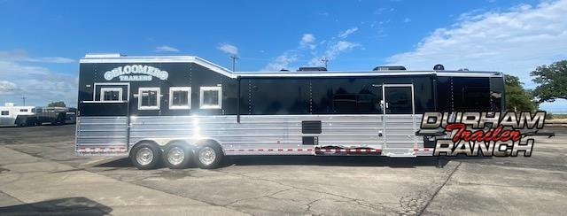 2021 Bloomer 4H Outlaw Conversion w/ 18' LQ and 10' Hyd. Slide Horse Trailer