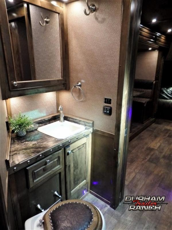 2017 Platinum Coach 4H PC Load w/ 16' Short Wall & 9' Electric Slide Horse Trailer