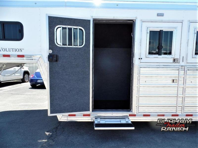 "2020 Bloomer 5H w/ 4'6"" SW Dressing Room & Large Trainer's Tac Horse Trailer"