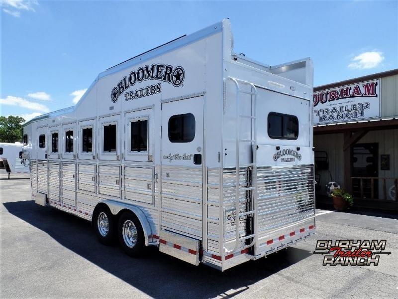 "2020 Bloomer 5H w/ 4'6"" SW Dressing Room & Large Trainer's Tac Horse Trailer"