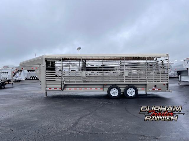 2022 GR Trailers 24 FT Gooseneck Livestock Trailer