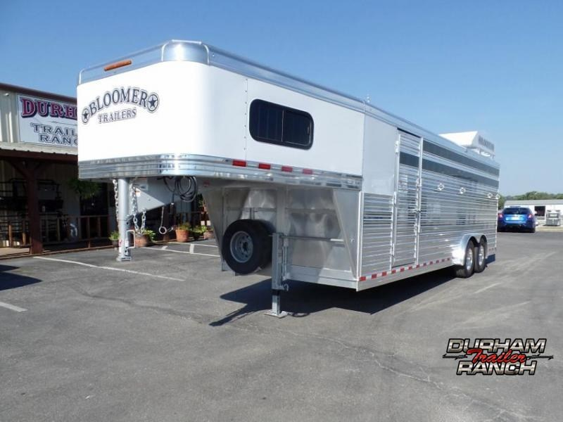 2021 Bloomer Stock Combo Trailer w/ 3' SW Tack Room Livestock Trailer