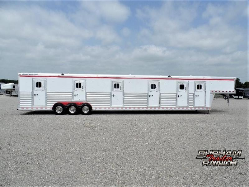 2010 Elite 6 Box Stall Stock Combo Trailer