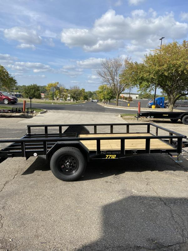 2021 Doolittle 77x12 Single Axle Utility Trailer W/Open Sides