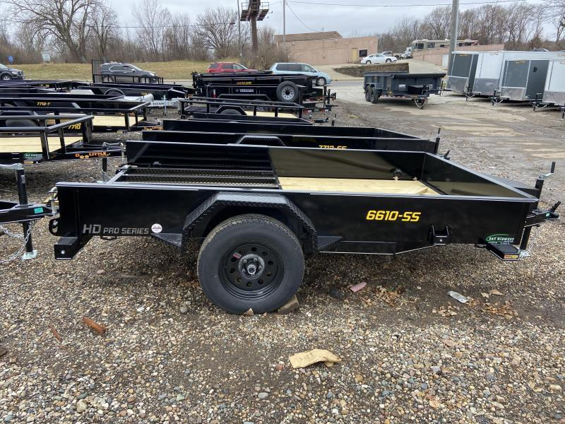 2021 Doolittle 66x10 Single Axle Utility Trailer W/Solid Sides Utility Trailer