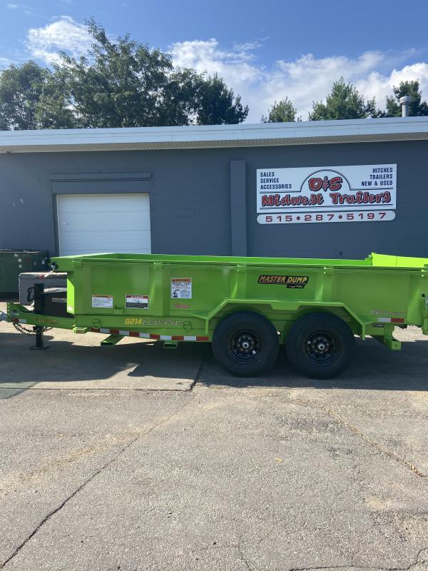 2021 Doolittle 82x14 Master Dump 14000lb GVWR Dump Trailer With Side Gate and Fork Holders