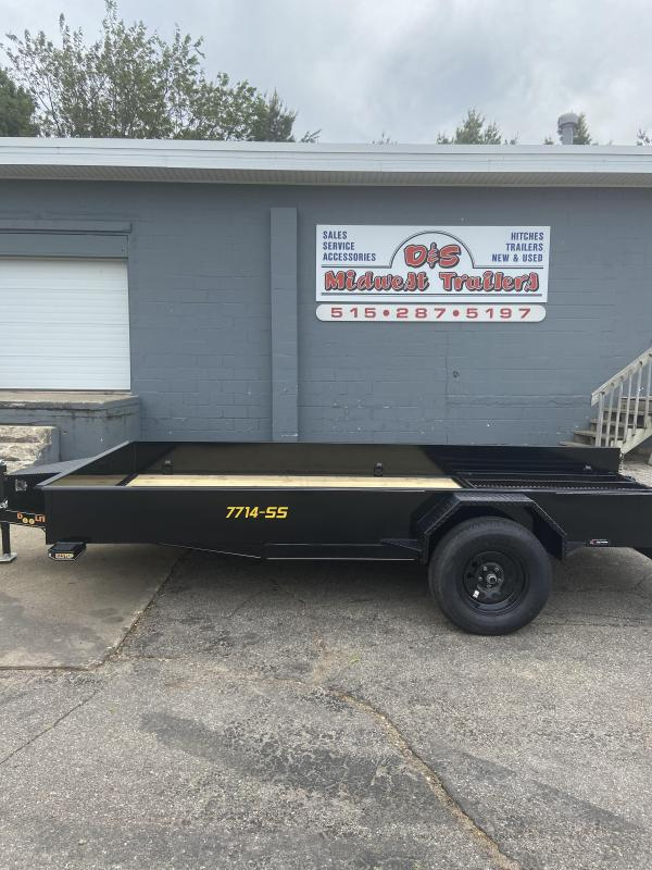 77x14 Single Axle Utility Trailer W/Solid Sides