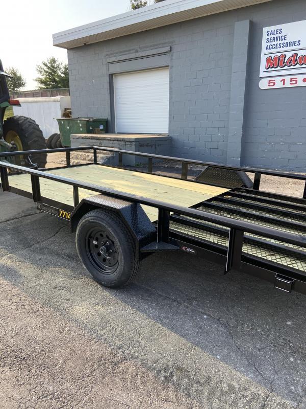 77x14 Single Axle Utility Trailer W/Open Sides