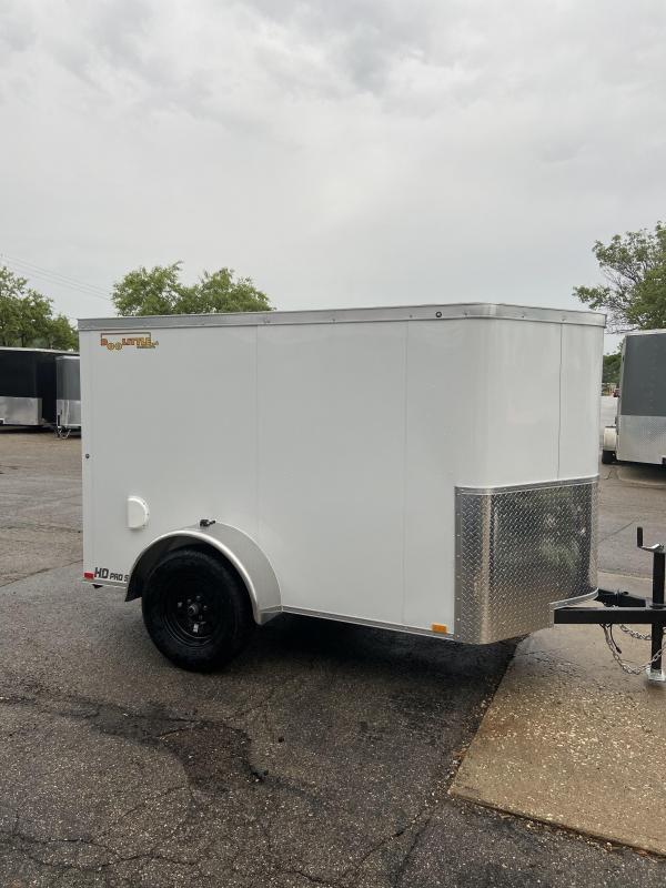 2021 Doolittle Trailer Mfg 5x8 Bullitt Enclosed Cargo Trailer w/Ramp Door & Side Door