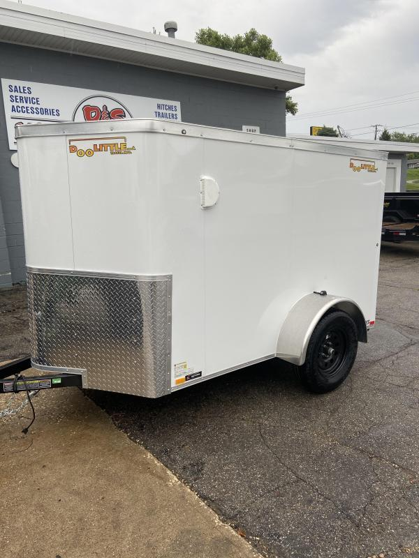 2021 Doolittle Trailer Mfg 5x8 Bullitt Enclosed Cargo Trailer w/Ramp Door & Side Door