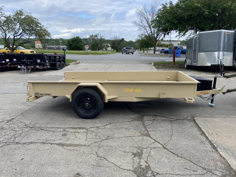 2021 Doolittle 77x12 Single Axle Utility Trailer W/Solid Sides Tan Color