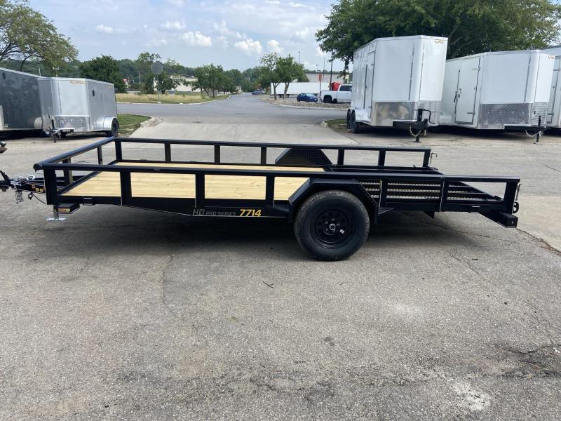 2021 Doolittle 77x14 Single Axle Utility Trailer W/Open Sides