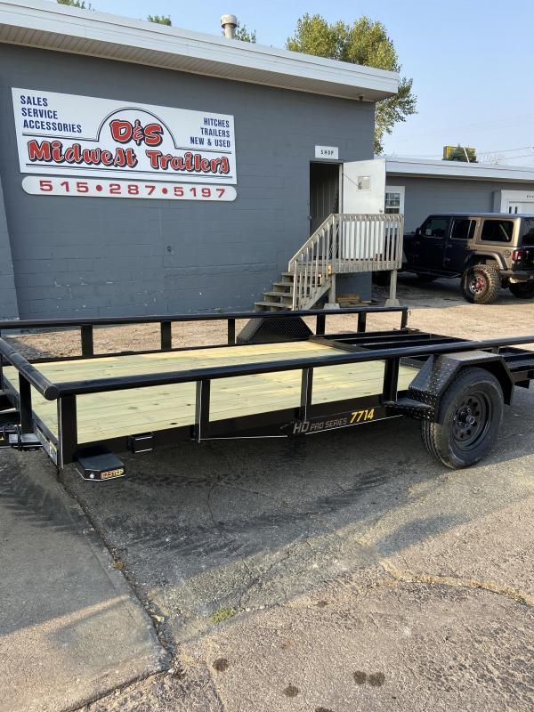 77x14 Single Axle Utility Trailer W/Open Sides