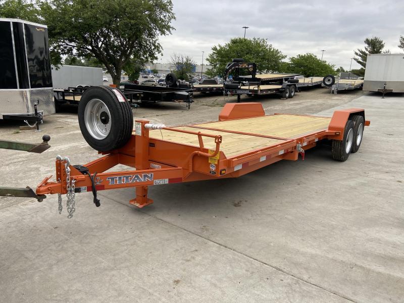 2021 Titan Trailers 16+6 Tilt Deck Equipment Trailer w/ 17.5 Tires