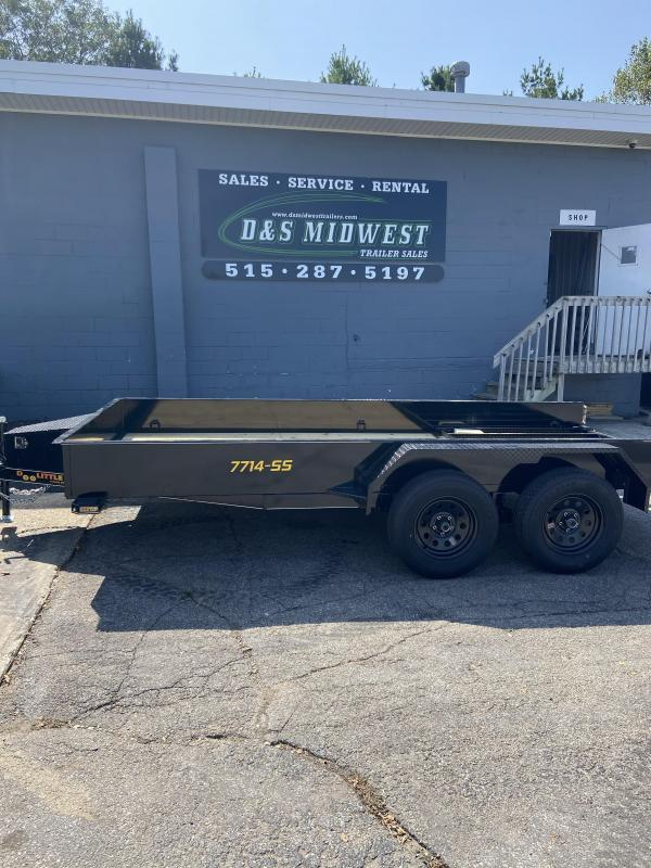 Doolittle 77x16 Tandem Axle W/Solid Sides Double Brake Axles