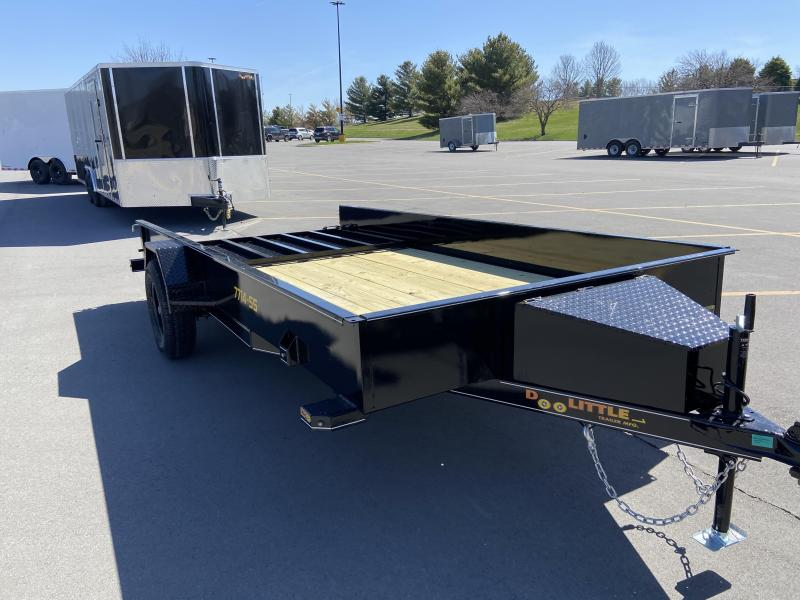 2021 Doolittle 77x14 Single Axle Utility Trailer W/Solid Sides