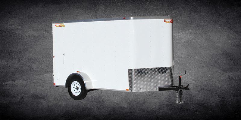 2019 Doolittle Trailer Mfg 6x10 Bullitt Enclosed Cargo Trailer w/ Double Doors/Gray