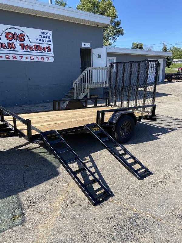 2021 Doolittle 77x12 Single Axle Utility Trailer W/ATV Sides