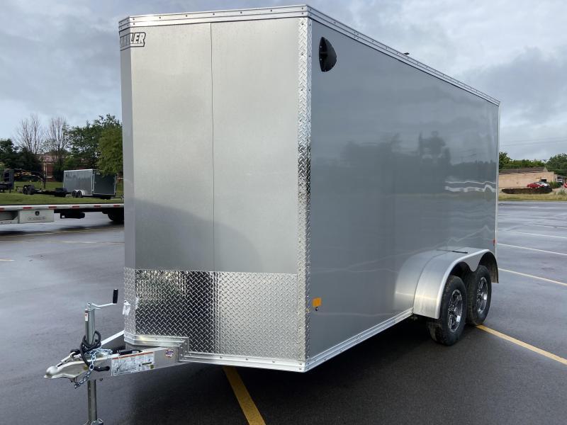 2021 Mission EZ Hauler 7x14 Cargo Trailer with Ramp Door Aluminum Wheels 7' Tall