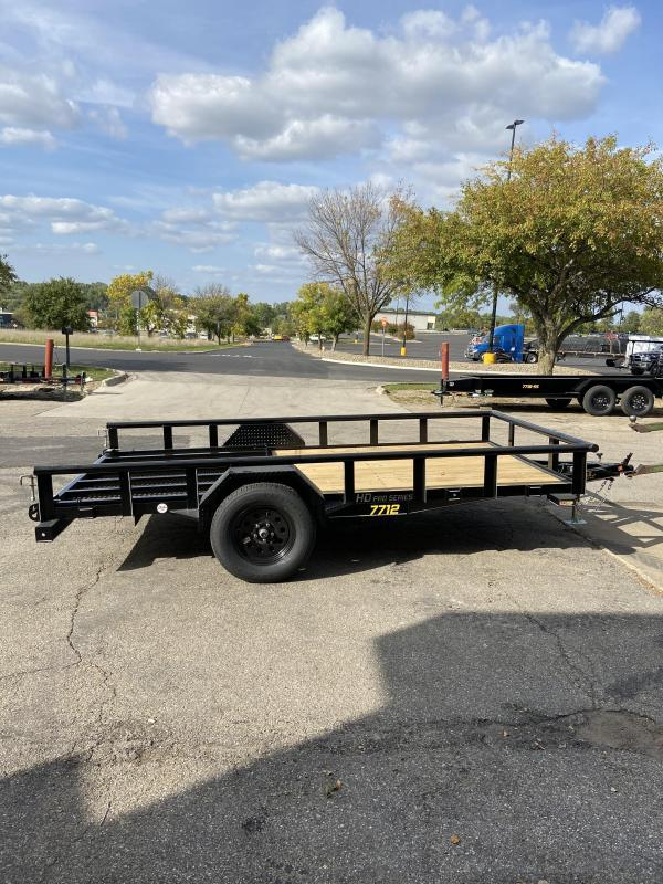 2021 Doolittle 77x12 Single Axle Utility Trailer W/Open Sides
