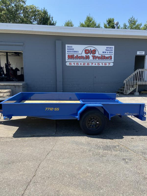 2021 Doolittle 77x12 Single Axle Utility Trailer W/Solid Sides