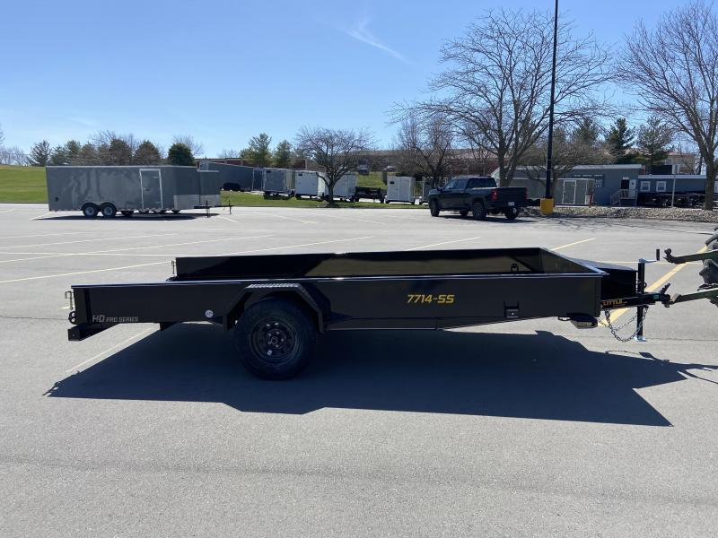 2021 Doolittle 77x14 Single Axle Utility Trailer W/Solid Sides